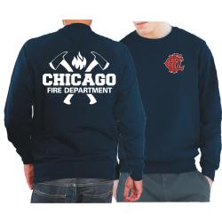CHICAGO FIRE Dept. axes CFD-Emblem, blu navy Sweat