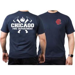 CHICAGO FIRE Dept. axes CFD-Emblem, navy T-Shirt