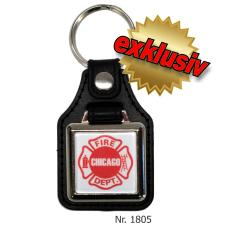 Schlüsselanhänger mit Leder/Ring: Chicago Fire...