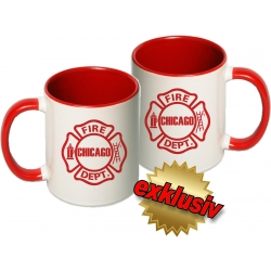 Tasse: Chicago Fire Dept. Emblem, two-tone-coffee-cup,...