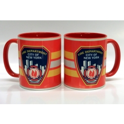 Tasse bicolor New York City Fire Department...