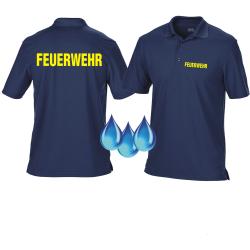 Funktions-Polo navy, FEUERWEHR in neongelb