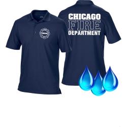 Funcional-Polo azul marino, Chicago Fire Dept., blanco...