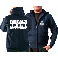 CHICAGO FIRE Dept. Hooded jacket navy, work with Skyline...