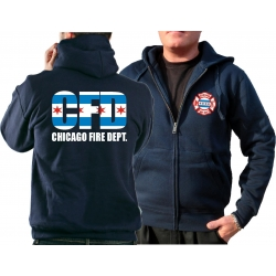 CHICAGO FIRE Dept. Hooded jacket navy, CHICAGO FIRE...