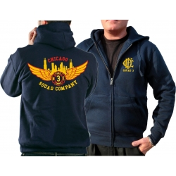 CHICAGO FIRE Dept. Hooded jacket navy, Squad 3 Eagle...