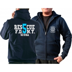 Hooded jacket navy, Rescue5 (blue) Staten Island