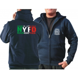 Hooded jacket navy, Engine 55 Manhattan, Little Italy