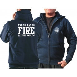Hooded jacket navy, NYFD Fire Factory Harlem