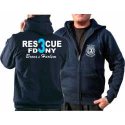 Hooded jacket navy, Rescue3 (blue) Bronx & Harlem