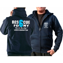 Hooded jacket navy, Rescue6 (blue) Lower Manhattan