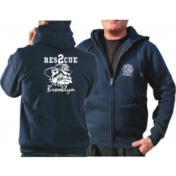 "Hooded jacket navy, ""Rescue 2 Brooklyn - bulldog"""