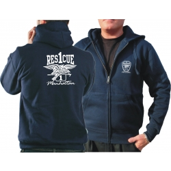Hooded jacket navy, Rescue 1 Manhattan - Eagle
