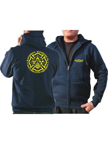"""Hooded jacket navy, """"HazMat Co.1"""" (Gefahrguteinheit)"""