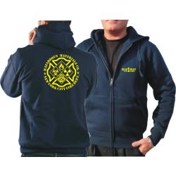 """Hooded jacket navy, """"HazMat Co.1""""..."""