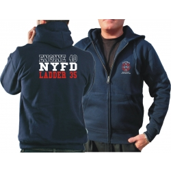 Hooded jacket navy, NYFD (E-40/L-35) Caveman