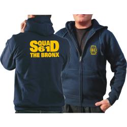 Chaqueta con capucha azul marino, NYFD Squad 61 The Bronx