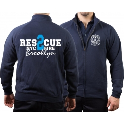 Sweat jacket navy, Rescue2 (blue) Brooklyn
