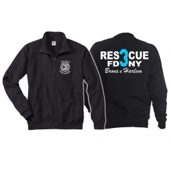 Sweat jacket navy, Rescue3 (blue) Bronx & Harlem