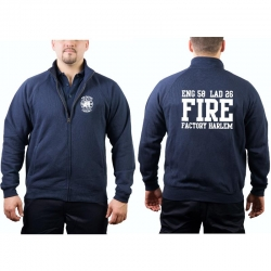 Sweat jacket navy, NYFD Fire Factory Harlem