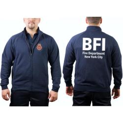 Sweat jacket navy, BFI (Bureau of Fire Investigation/Fire...