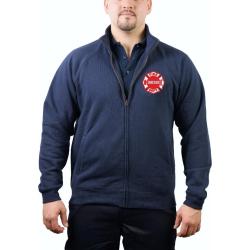 CHICAGO FIRE Dept. Sweat jacket navy, Brustemblem
