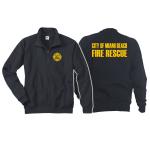 Sweat jacket navy, Miami Beach Fire Rescue, yellow