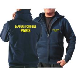 Chaqueta con capucha azul marino, Sapeurs Pompiers Paris...