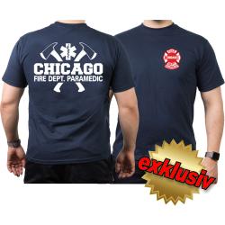 CHICAGO FIRE Dept. Axes, Star of Life, Paramedic, azul...