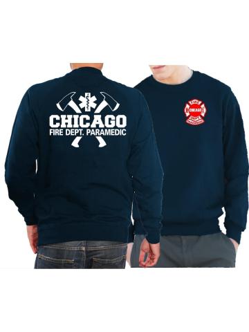 Chicago Fire Dept Paramedic feuer1 T-Shirt Navy mit /Äxten