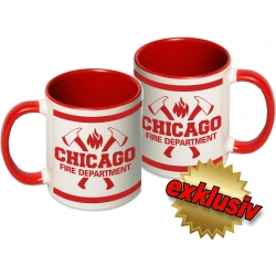 """Tasse: """"Chicago Fire Dept."""" with axes..."""