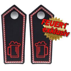 FEUER1 Dienstgrad-Schulterklappen-Paar Spezial mit...