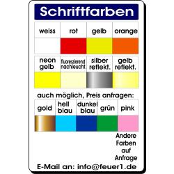 "T-Shirt Schrift ""FN"" FEUERWEHR + ORTSNAMEN kursiv"