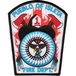 Patch Pueblo of Isleta Fire Dept., New Mexico (USA), 9 x...