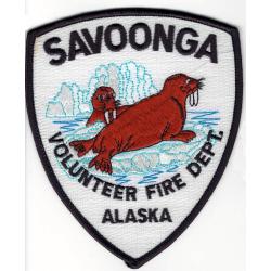 Patch Savoonga Vol. Fire Dept., Alaska (USA), 10 x 12 cm