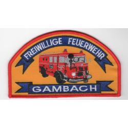Patch Freiwillige Feuerwehr Gambach, Hessen, 12,5x 7,5 cm