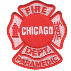 Patch Chicago Fire Dept. Paramedic, 8 x 9,5 cm