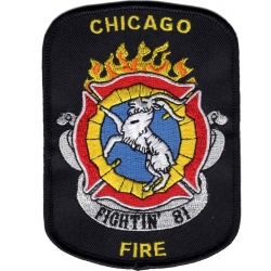 Company Patch: Chicago Fire Fightin`81, Grösse: 8,4 x...