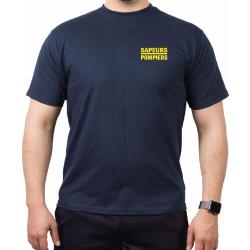 T-Shirt navy, Sapeurs Pompiers Casque - Courage et...