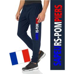 Pantalon navy/bleu marine SAPEURS-POMPIERS, tricolore