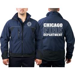 CHICAGO FIRE Dept. WorkSoftshelljacket navy, white font...