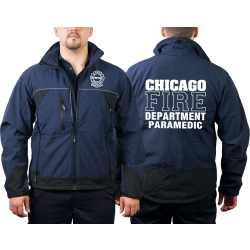 CHICAGO FIRE Dept. WorkSoftshelljacket navy, PARAMEDIC,...