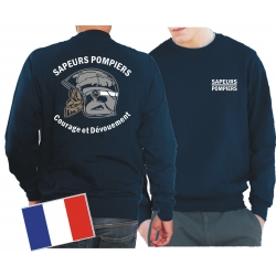 Sweat (navy/bleu marine), Sapeurs Pompiers Casque -...