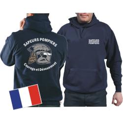 Sweat á capuchet (navy/bleu marine) Sapeurs...