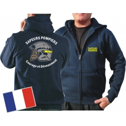 Hooded jacket (navy/bleu marine) Sapeurs Pompiers Casque...