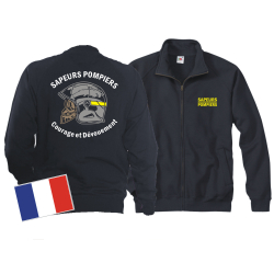 Sweatjacke (navy/bleu marine) Sapeurs Pompiers Casque -...