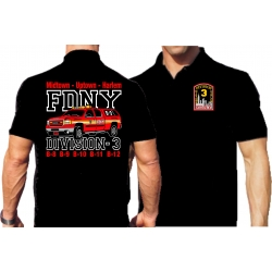 Polo black, New York City Fire Dept. Divison 3,...