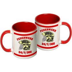 Tasse: MSA-Helm, 24/7/365, two-tone-coffee-cup, red (1...