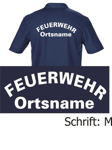 Funktions Poloshirt Navy Schrift M Mit Ortsnamen 44 00
