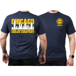 CHICAGO FIRE Dept. Squad Skyline bicolor, navy T-Shirt